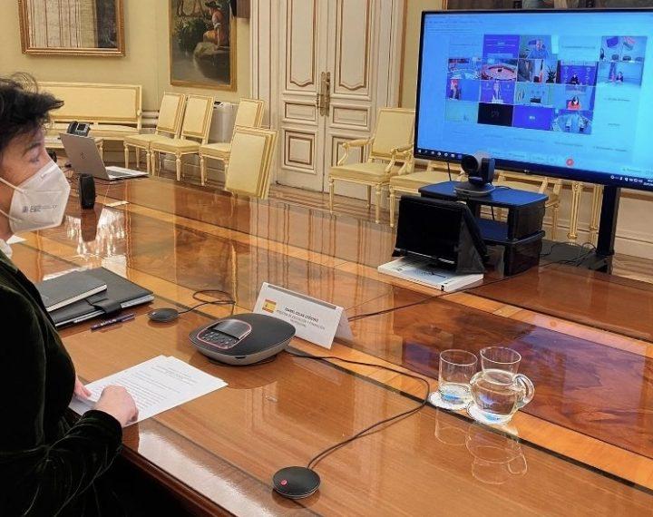 La ministra y los consejeros de Educación se reúnen de forma telemática para hablar de lo seguras que son las clases presenciales en colegios, institutos y universidades